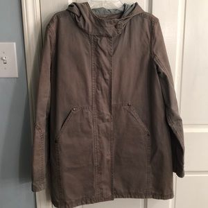 J Crew Hooded Utility Jacket